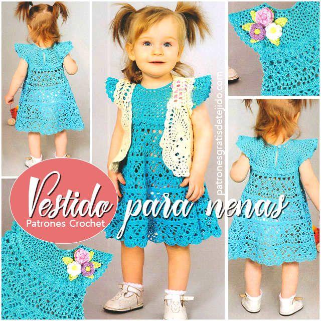 aprende a tejer un vestido para nena con crochet
