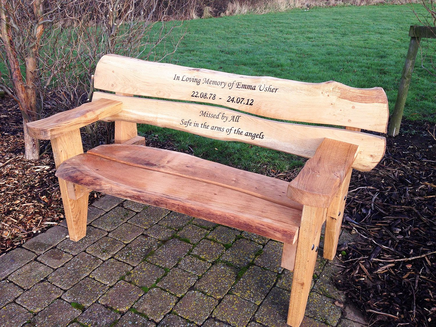 Miraculous Hulls Memorial Bench In 2019 Prayer Garden Memories Ibusinesslaw Wood Chair Design Ideas Ibusinesslaworg