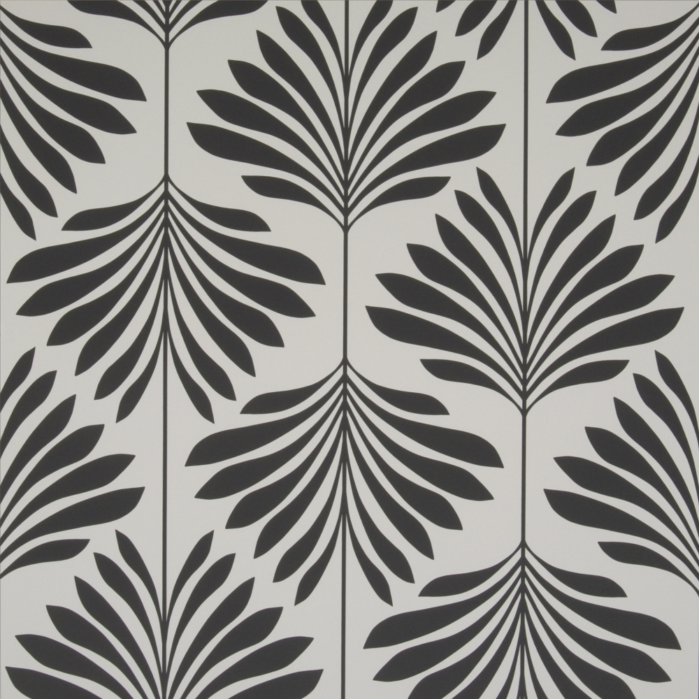 Vogue Charcoal Palm Wallpaper - W0003/05