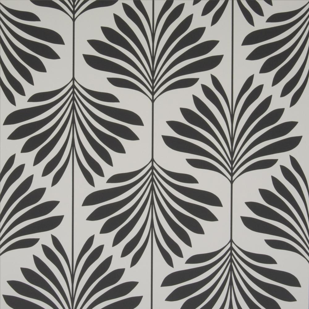 Vogue Charcoal Palm Wallpaper W0003/05 Clarke & Clarke
