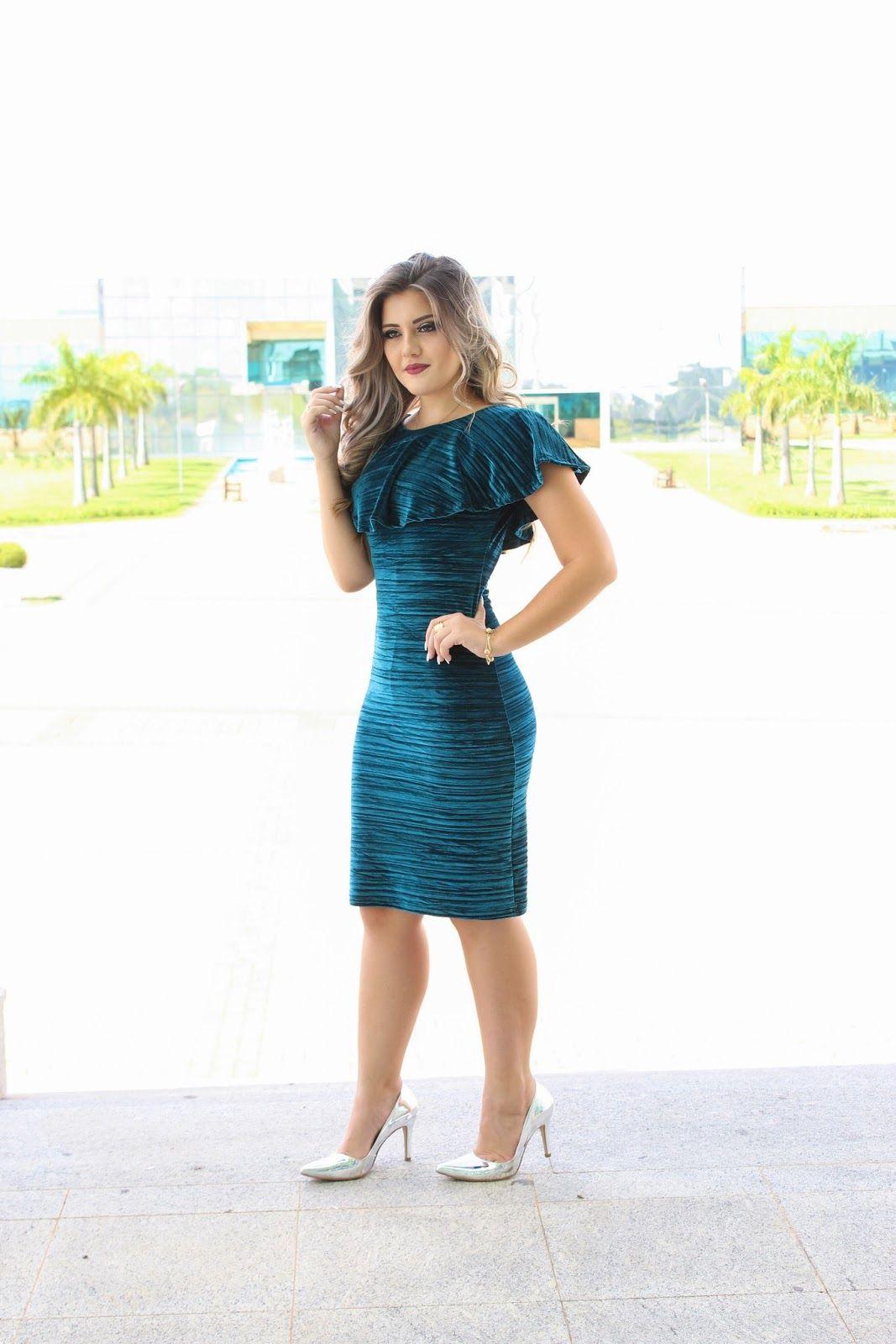 2b99f6a43 Tubinho Veludo' Lalinha Fashion | अनामिका em 2019 | Vestidos ...