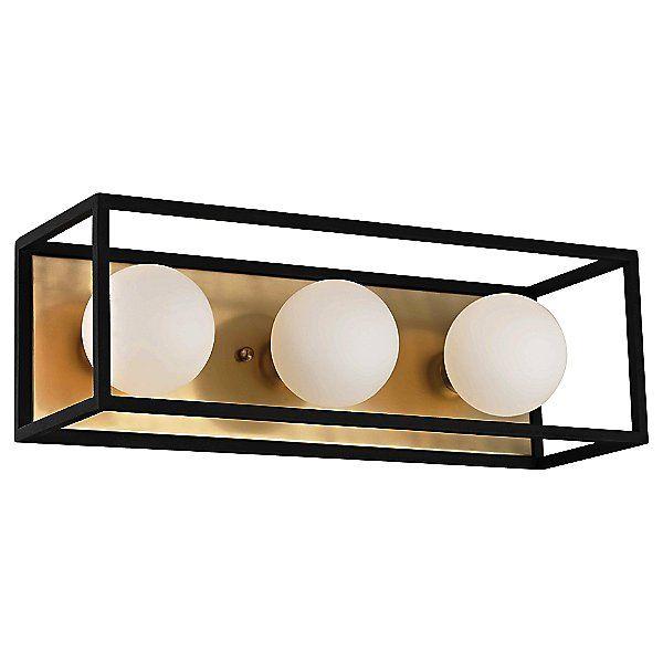 "Photo of Mitzi Aira Bath Bar – H141303-AGB / BK – Color: Brass – Size: 15- """