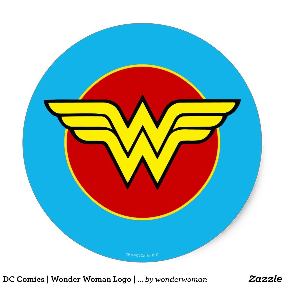 Dc Comics Wonder Woman Logo Happy Birthday Classic Round Sticker Zazzle Com Wonder Woman Logo Wonder Woman Birthday Dc Comics