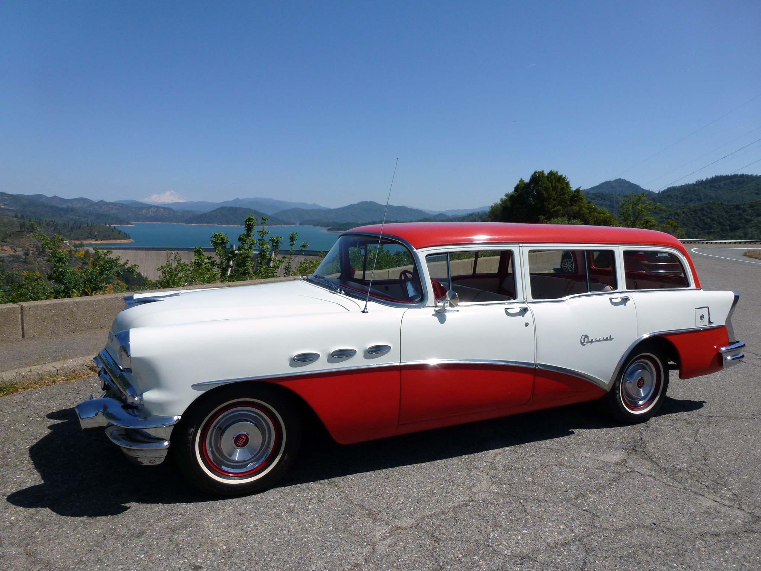 1956 buick special estate wagon at the shasta dam in for Shasta motors redding california
