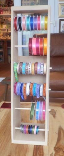 Ribbon Storage Unit Stand Holder Racks For Crafts Free Standing