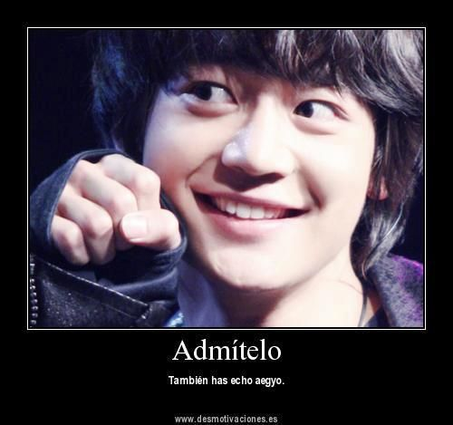 Translation: Admit it. You, too, have done aegyo <3