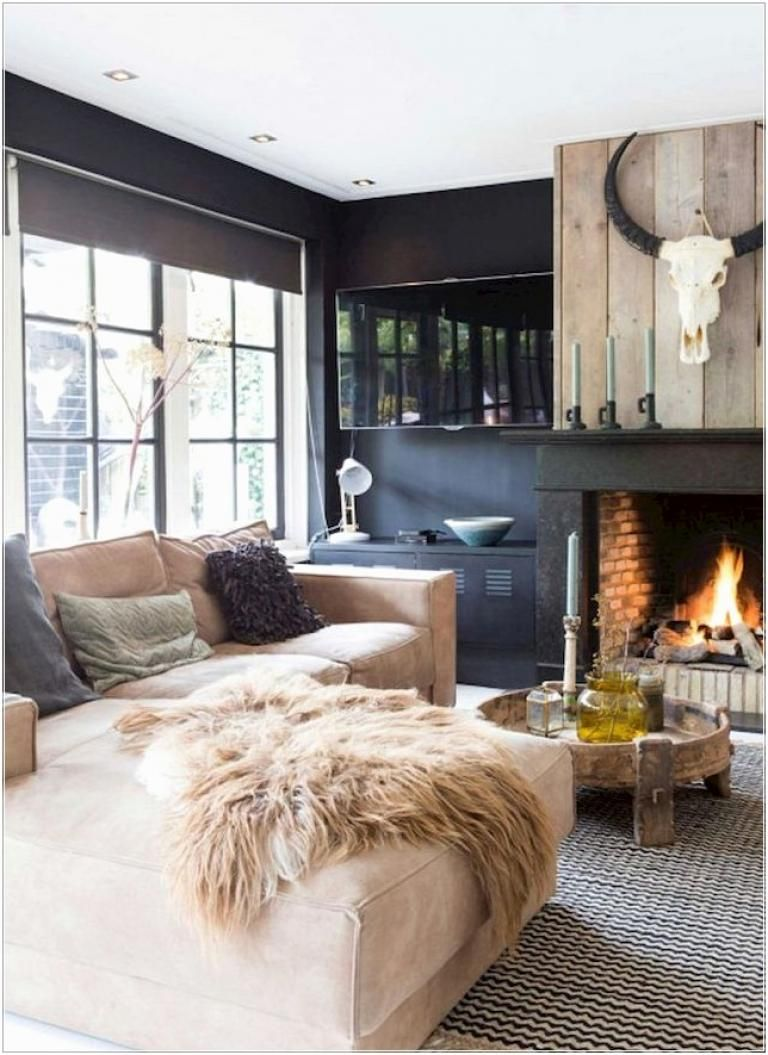 40 Beautiful Apartment Fireplace Decorating Ideas Farmhouse Decor Living Room Farm House Living Room Rustic Living Room Design