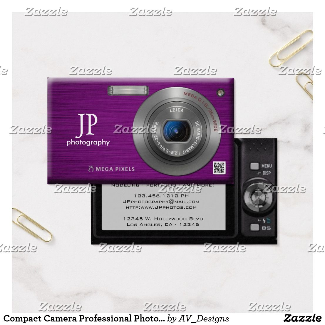 Compact camera professional photographer qr code business
