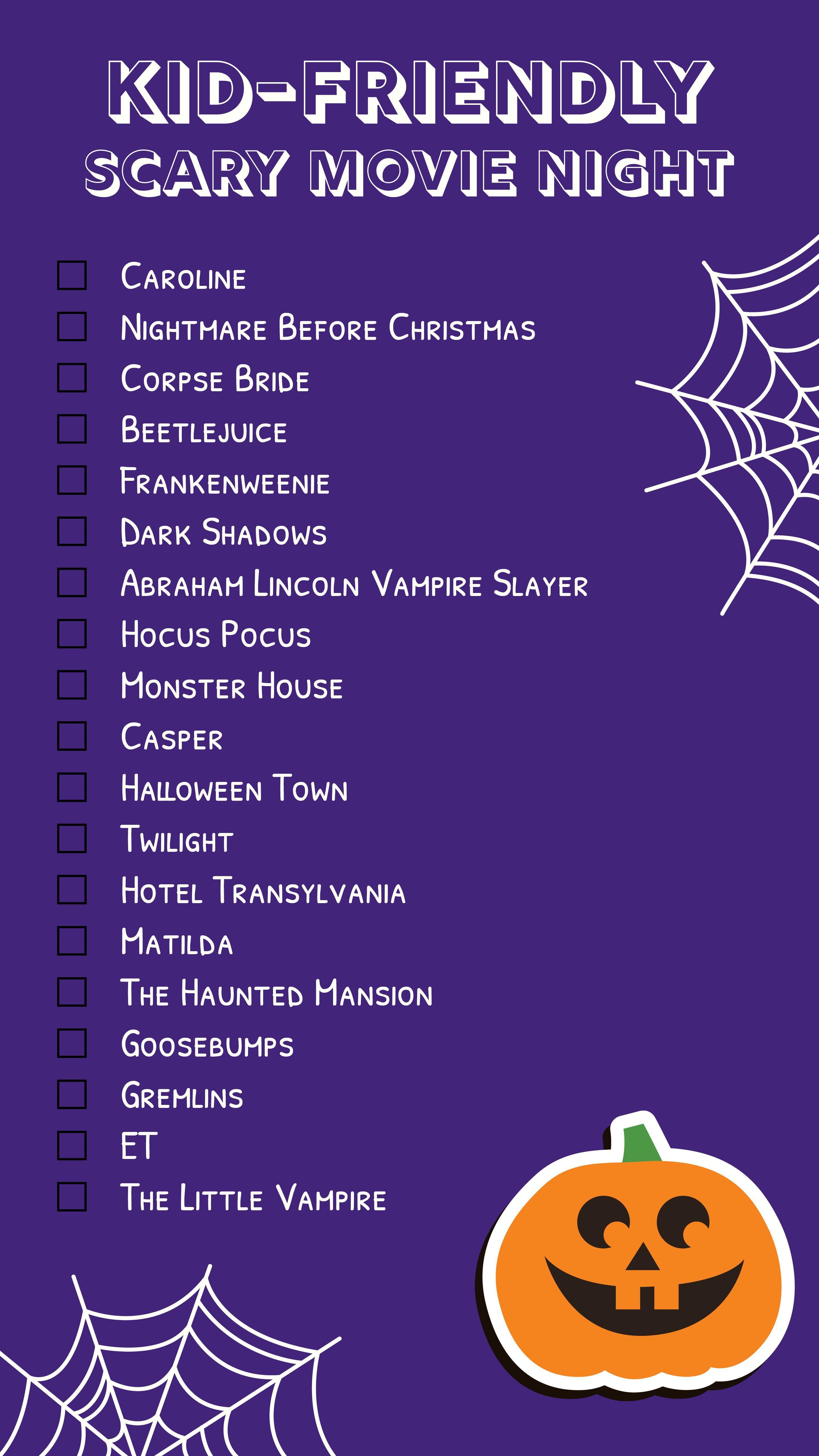 Kid Friendly Halloween Movies kidscarymovienight