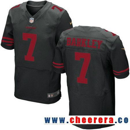 Men's San Francisco 49ers #1 Robbie Gould Black Alternate Stitched NFL Nike Elite Jersey