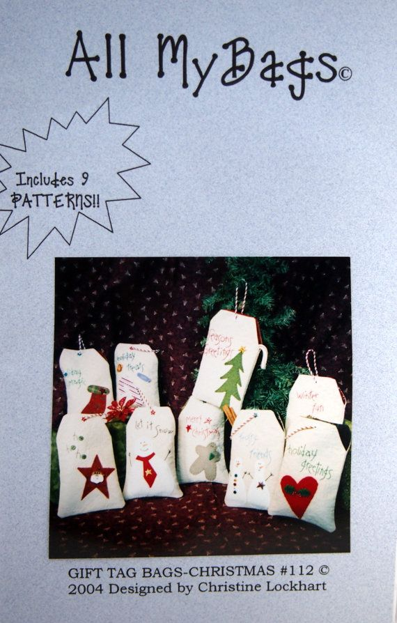 Gift Tag Bags Christmas 112 By Christine Lockhart by NeedANeedle ...