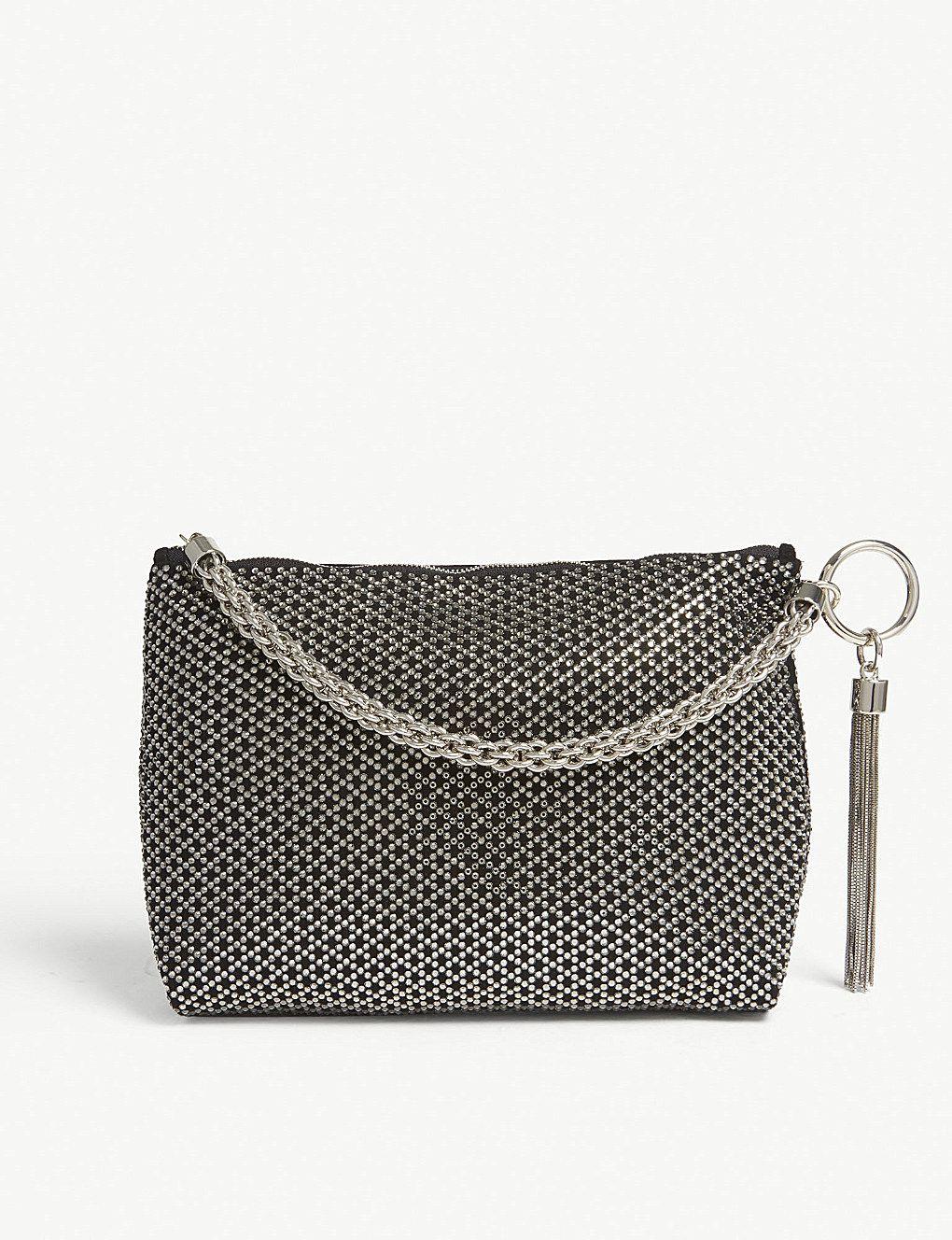 1409b685cb JIMMY CHOO - Callie metallic suede pouch | Selfridges. | Bag it ...
