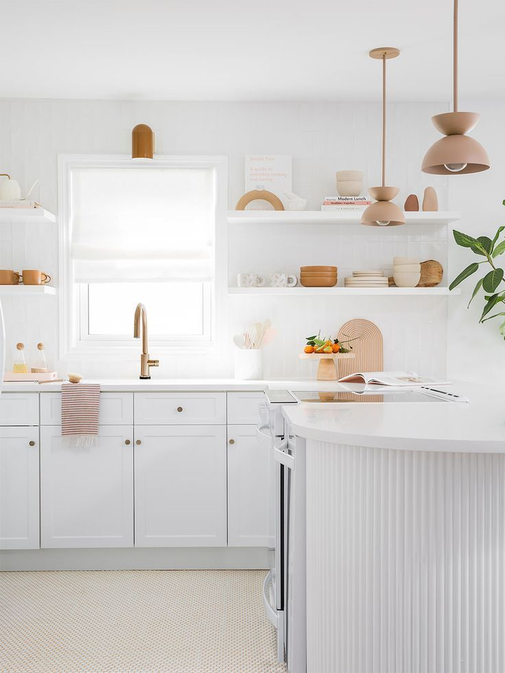 A $400 Kitchen Peninsula Makeover with All the Right Curves