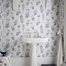 Wallpaper Toilet Heaven Wallpaper From The 70s Wallpaper Design For Bedroom Bathroom Wallpaper Vintage Toilet
