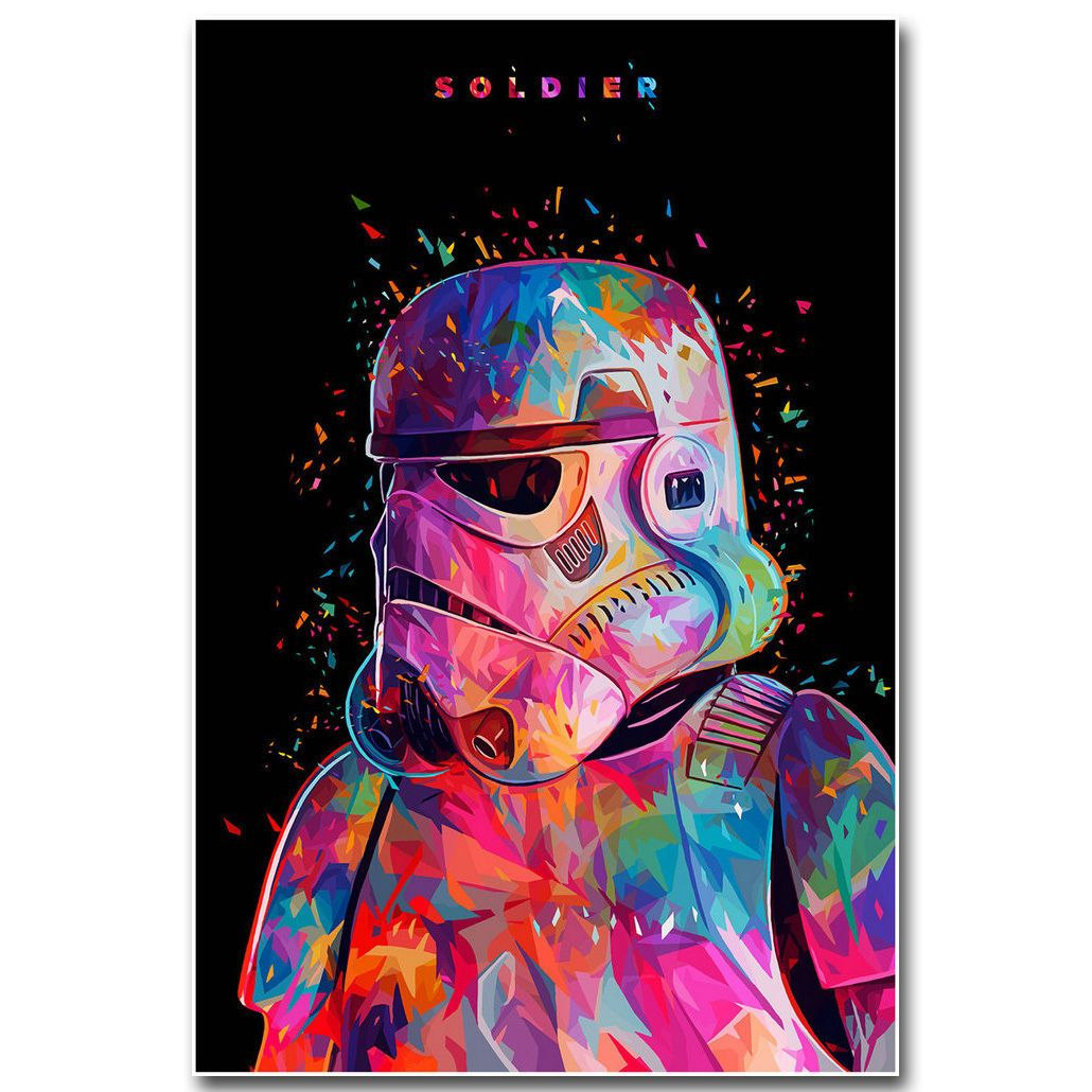 Funny Storm Trooper Quote Star Wars Fantasy Movie Art Poster Canvas Pictures