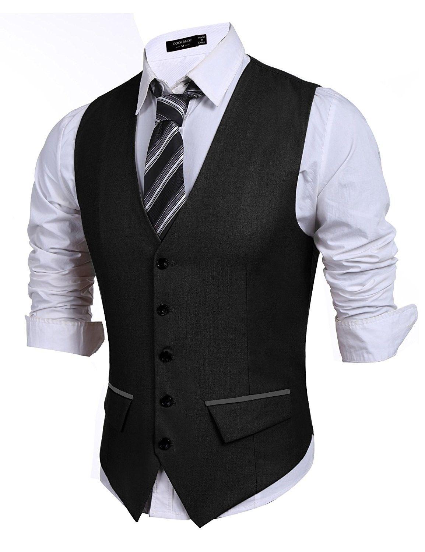 Men S Casual Slim Fit Skinny Wedding Dress Vest Waistcoat Black C21836690yl Vest Outfits Men Casual Vest Outfits Men Blue Jeans Outfit Men [ 1500 x 1154 Pixel ]