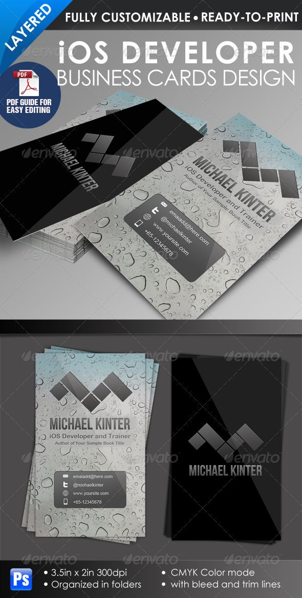 iOS Developer Business Card | Ios developer, Business cards and ...