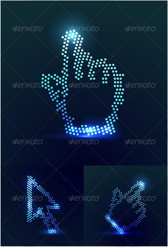 Glowing mouse pointers Glowing mouse pointers