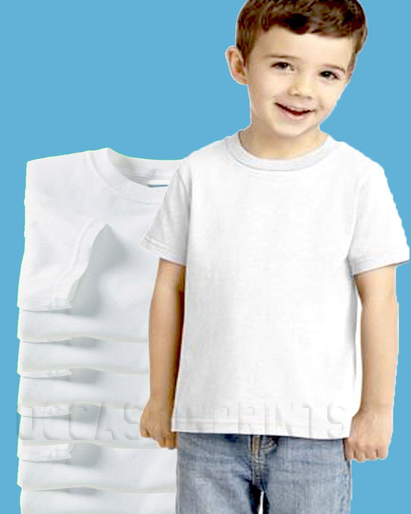 Plain white shirts cheapest t shirt jpg - 100 New Toddler White Blank Plain T Shirts Lot Bulk U Mix Size 2t 3t 4t 5t