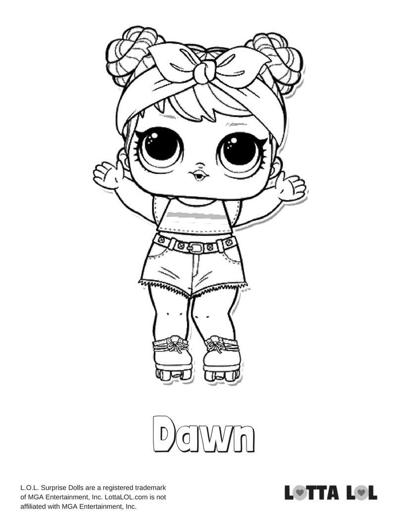 20 showbaby lol doll coloring page