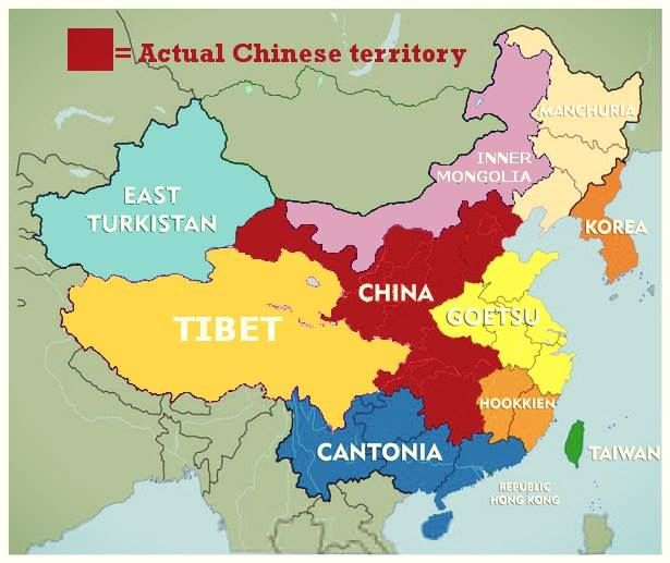 The real map of china here is the the real map of china here is the real china along with the territories it has occupied by force at one point of time or gumiabroncs Gallery