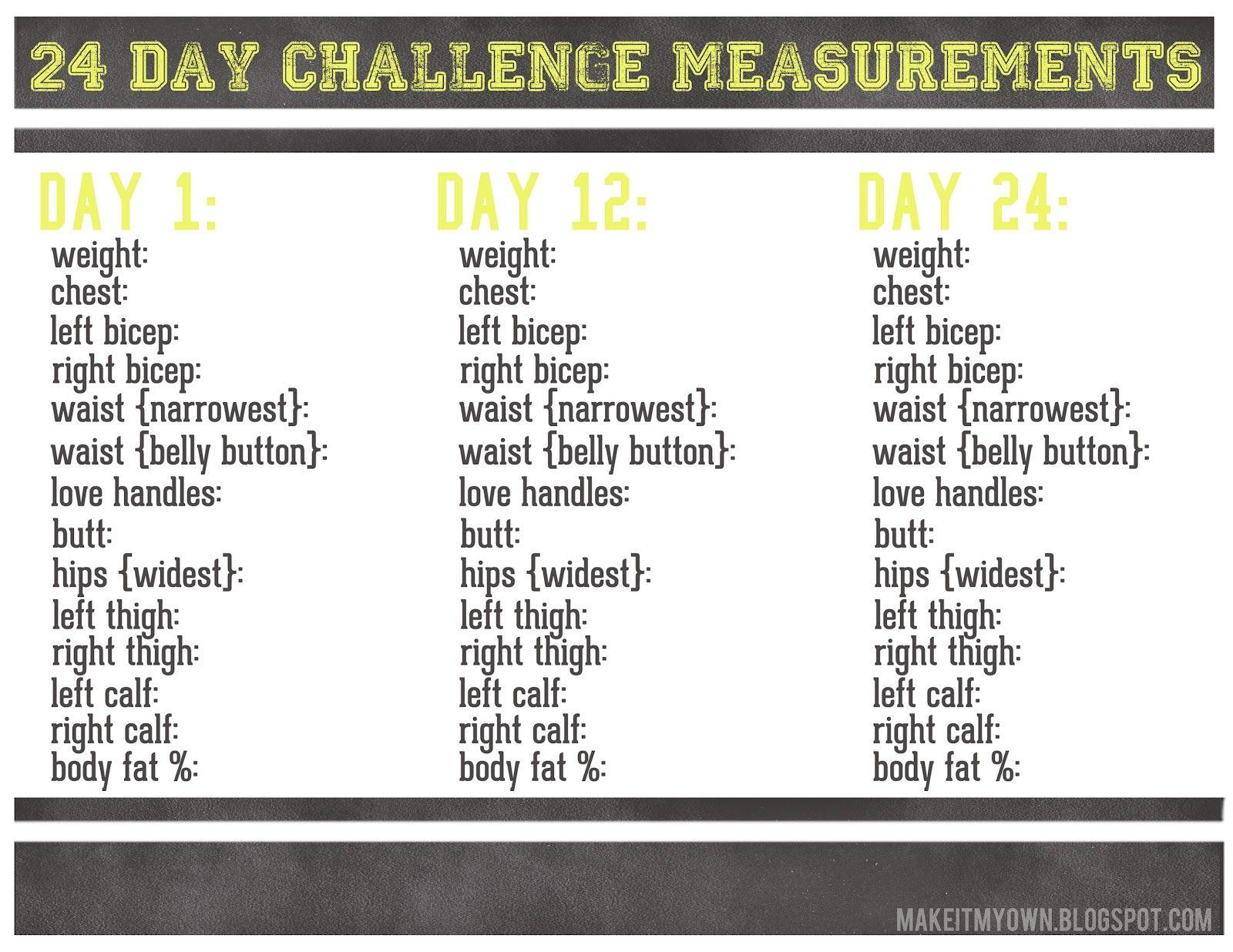 24 Challenge Worksheet