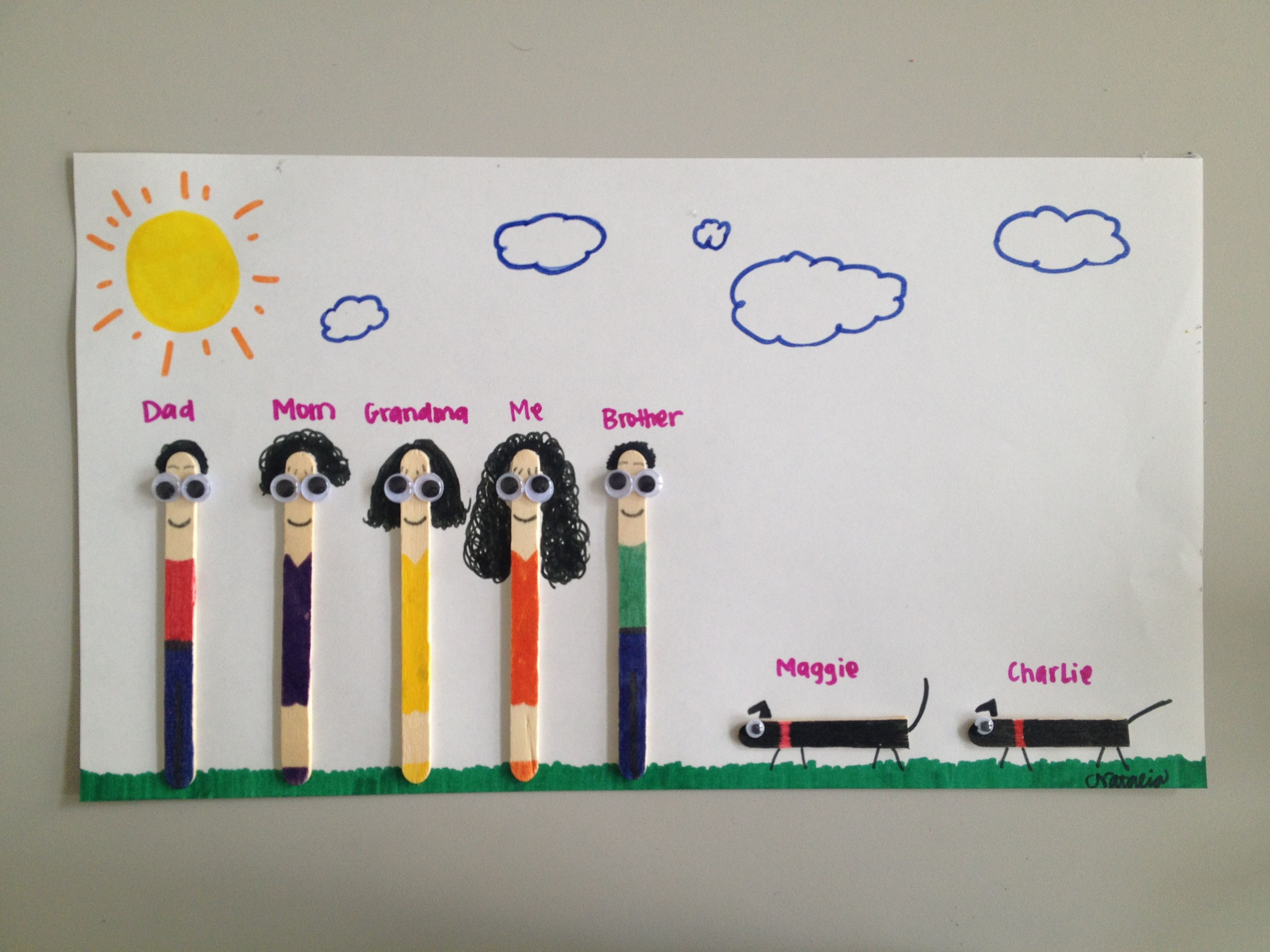 Popsicle stick family craft thanksgiving pinterest for Ice stick craft ideas