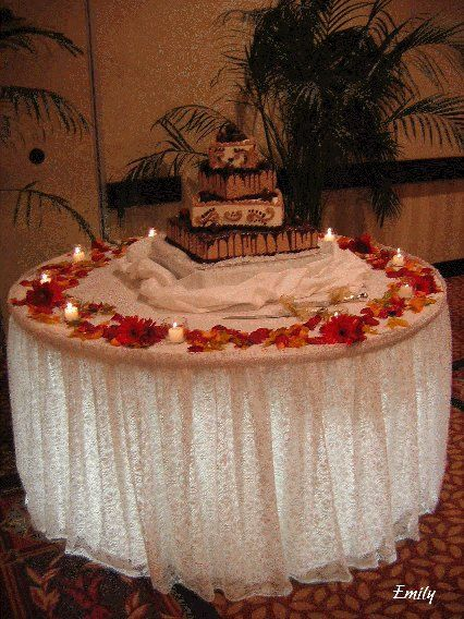 Fall Wedding Decorating Ideas Wedding Cake Table Decorations Fall Wedding Cakes Wedding Cake Table