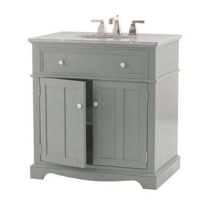 Home Decorators Collection Fremont 32 Inw X 22 Ind Bath Vanity New White Bathroom Vanity Home Depot Decorating Inspiration