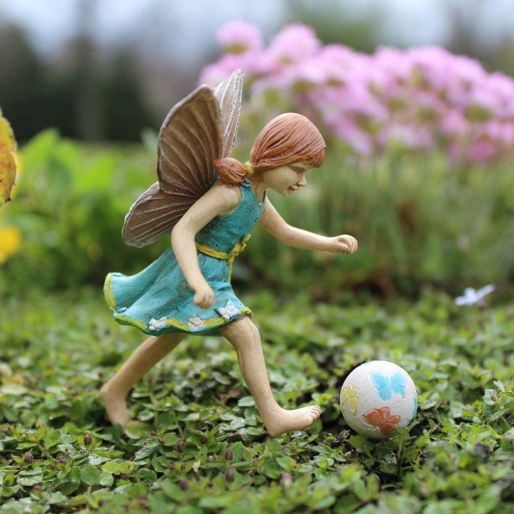 Fairy Jenna With Ball | fairy garden stuff | Miniature fairy