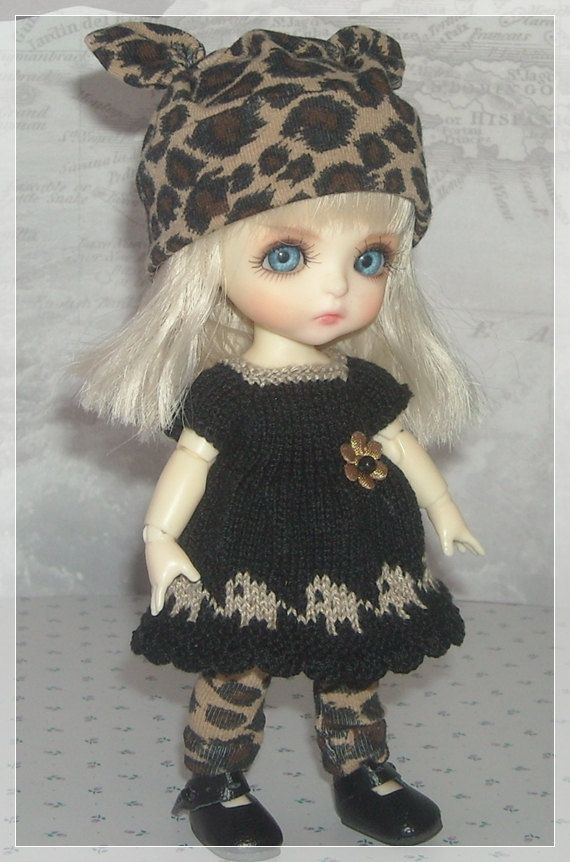 Lati Yellow PukiFee Luts Tiny Delf Dolls Black by JCsTinyTreasures, $28.00