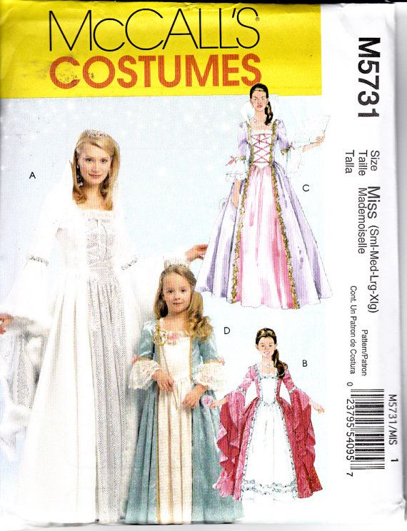 SEWING PATTERN MAKE GIRL FANCY DRESS~ROBE~QUEEN~PRINCESS~FAIRY COSTUME~DRESSUP