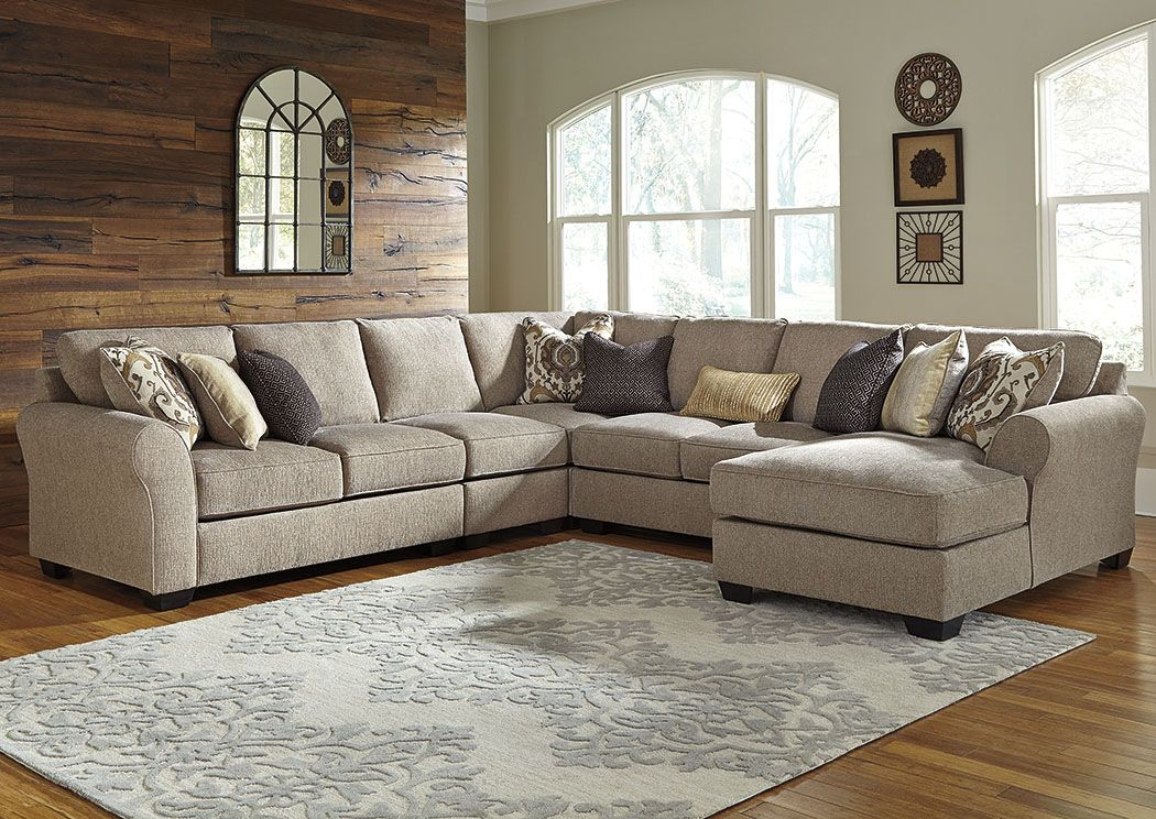 Shop For Pantomine Driftwood Extended Sectional W Right Facing Corner Chaise Starting At 2 Ashley Furniture Living Room Sectional Sofa Couch Mattress Furniture