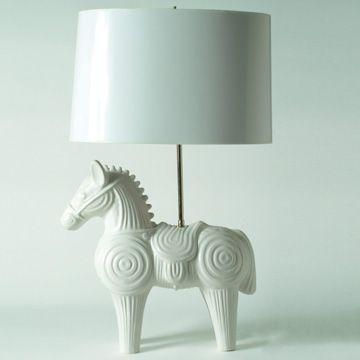 Johnathan Adler Horse Lamp