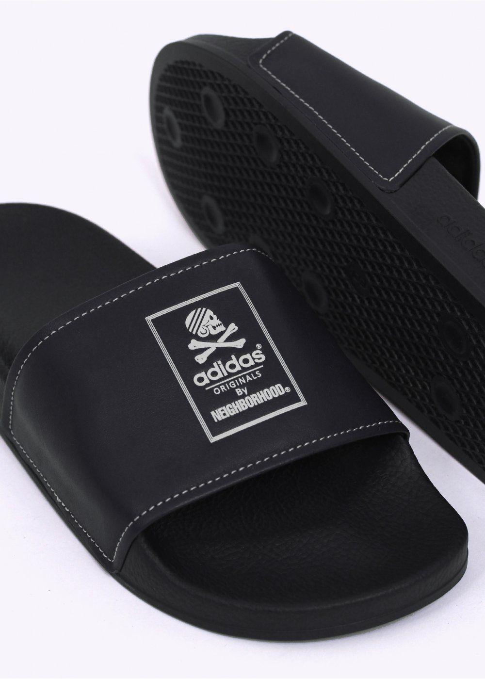 c27f71e01676 Adidas Originals x Neighborhood Adilette - Black