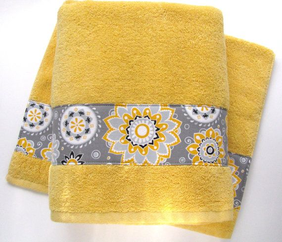 Pick Size Yellow Bath Towel Hand Towels Yellow Towels Yellow