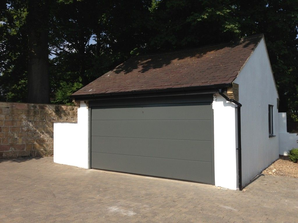 Hormann L Ribbed Sectional In Traffic Grey 7043 By Abi Garage Doors