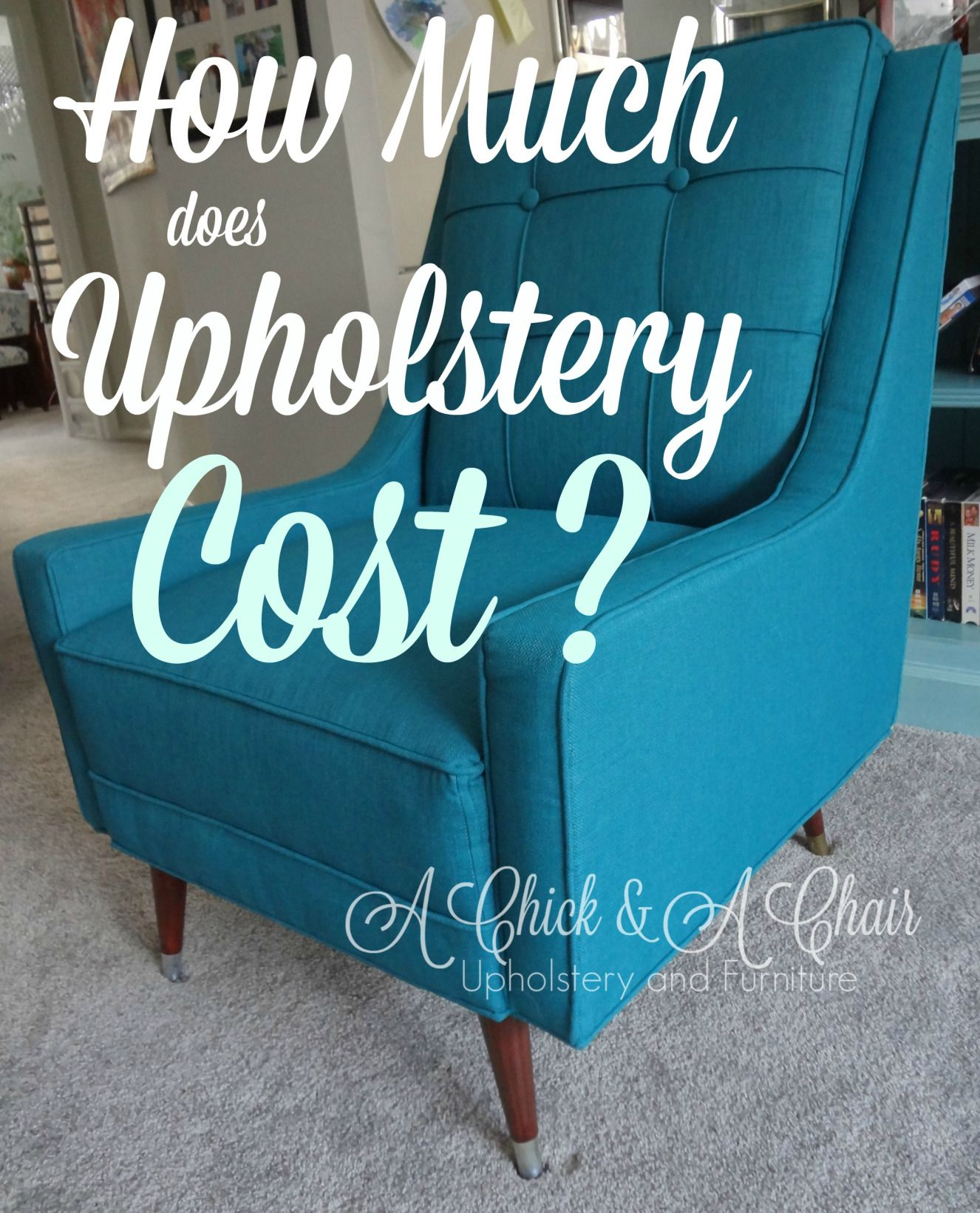 Chair Upholstery Cost Pads For Kitchen Chairs How Much Does Via A Chick Dimyself Pinterest