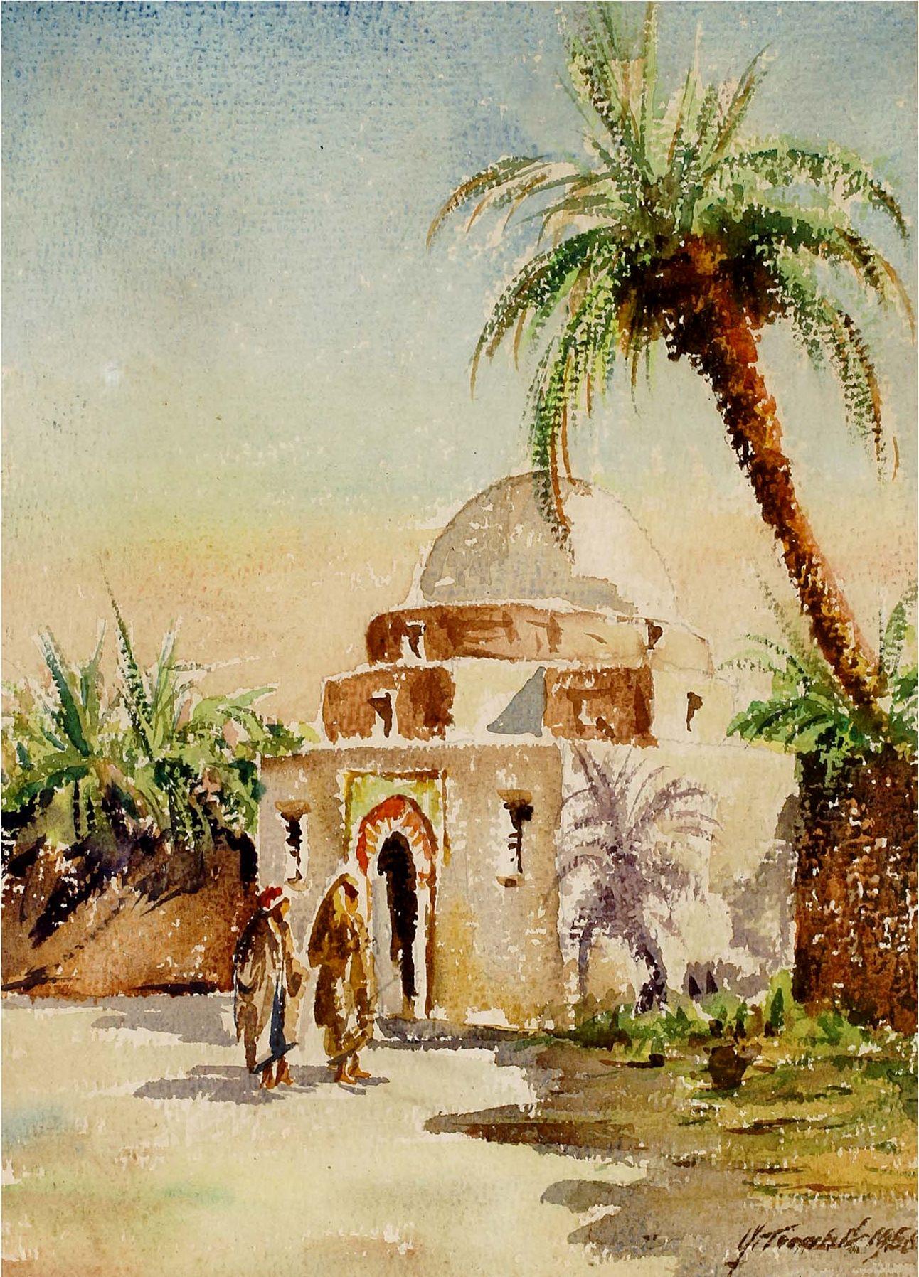 G Trombik Sud Tunisien Peinture Orientaliste Peinture