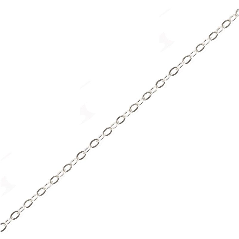 Sterling Silver Fine Cable Chain Spool Footage