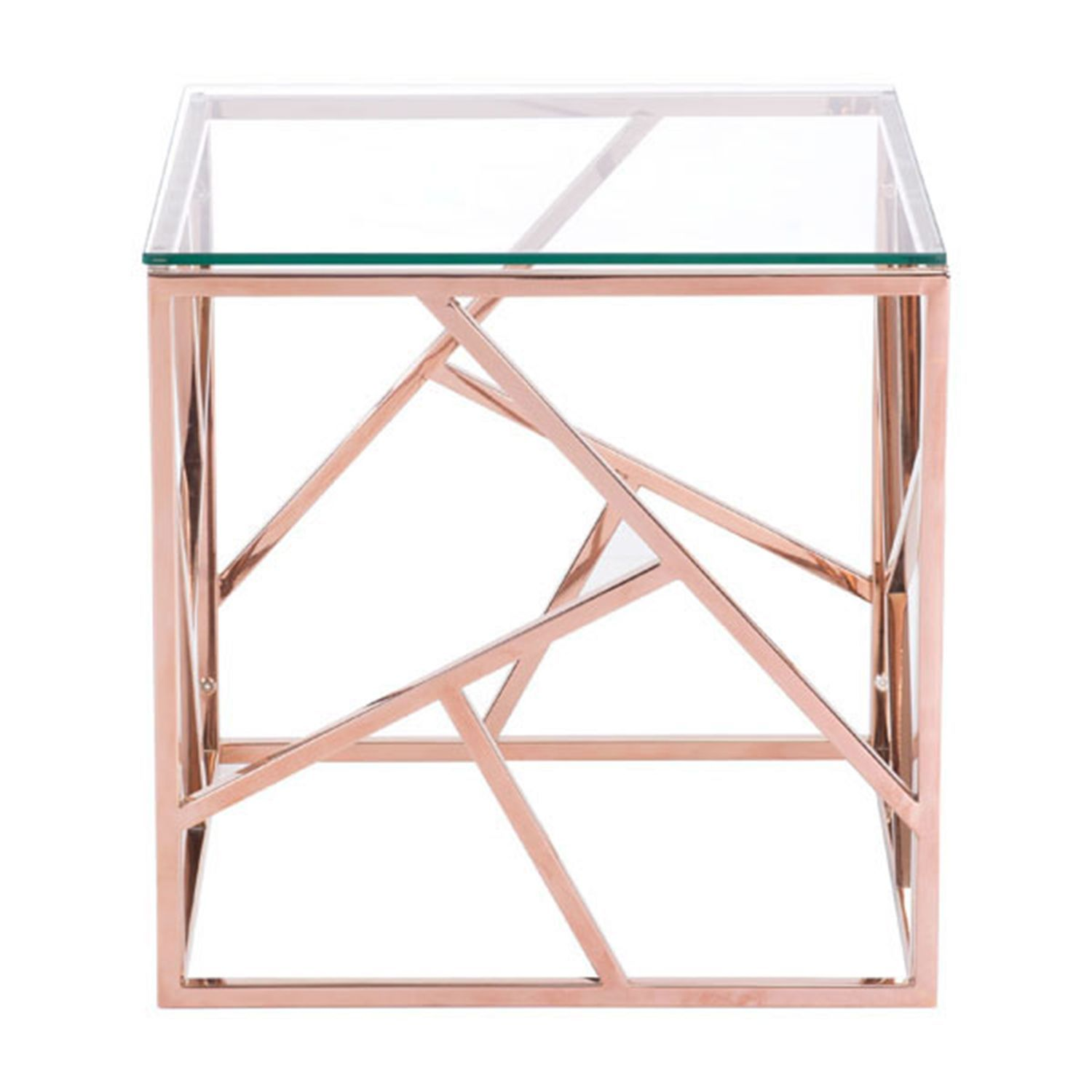 Cage Rose Gold Accent Table