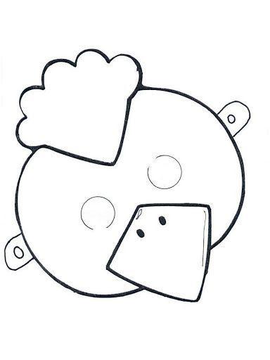 careta pollito | Color | Pinterest | Printables, Children y Baby