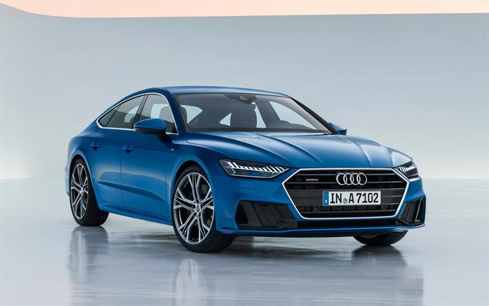 Descargar Fondos De Pantalla De Coches: Descargar Fondos De Pantalla Audi A7 Sportback S-Line, 4k