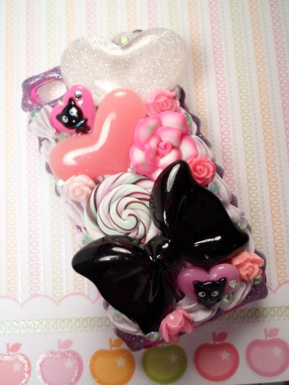 I Love Chococat Kawaii Decoden Deco Case for iPhone by Lucifurious, $42.00