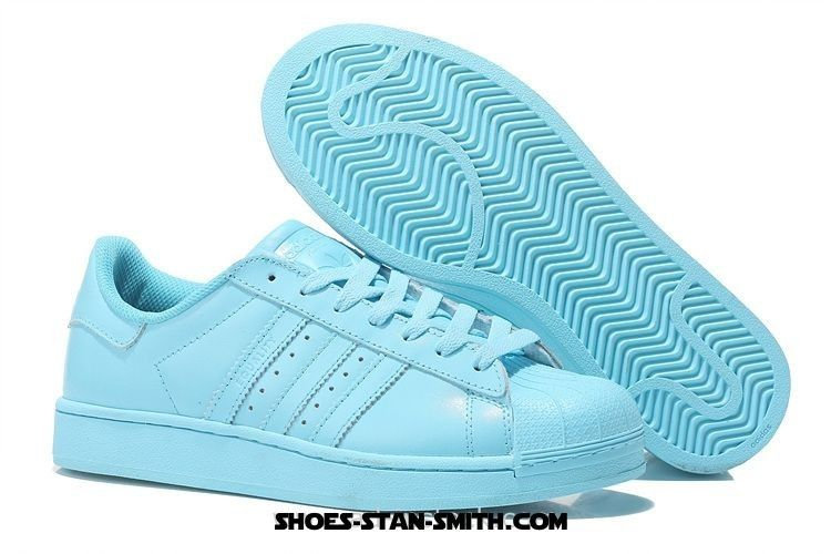 d76d2f457b19 Adidas Originals Superstar 80s Metal Toe Shoes For Womens Crystal Blue Adidas  Superstar 80s Clean