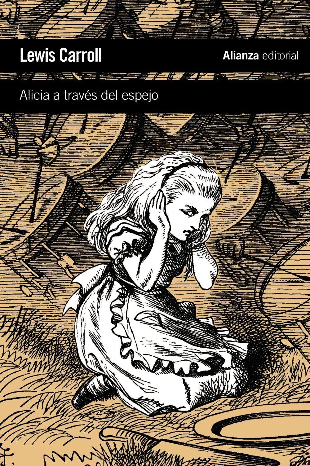 Cuento infantil escrito por Lewis Carroll en 1871. Es la continuación de Las aventuras de Alicia en el país de las maravillas (aunque no hace referencias a lo que ocurre en ese libro). Muchas cosas de las que acontecen en el libro parecen, metafóricamente, reflejadas en un espejo.