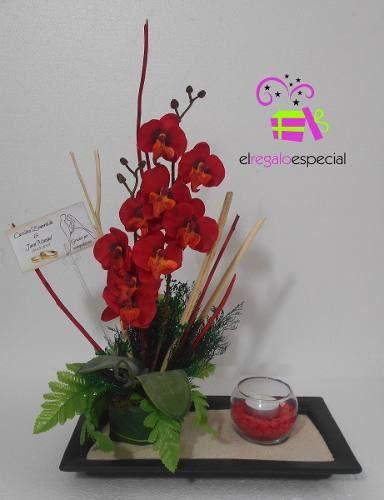 Centros de mesa boda 15 a os xv arreglo floral arena velas - Arreglos florales artificiales centros de mesa ...