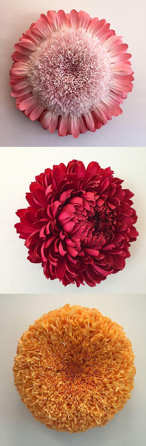New Giant Paper Flower Sculptures by Tiffanie Turner  Из Бубаги