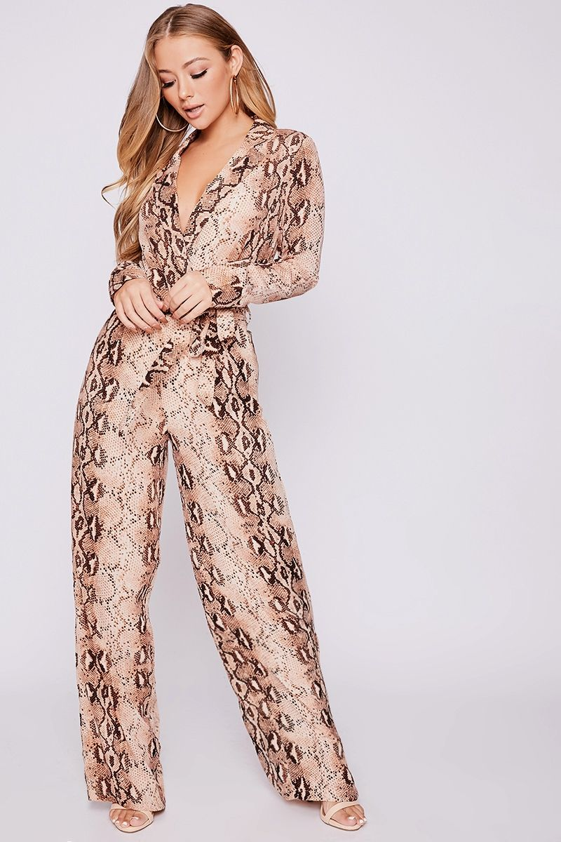 8732760aee47e9 BILLIE FAIERS NUDE SNAKE PRINT PALAZZO TROUSERS | Autumn fashion ...