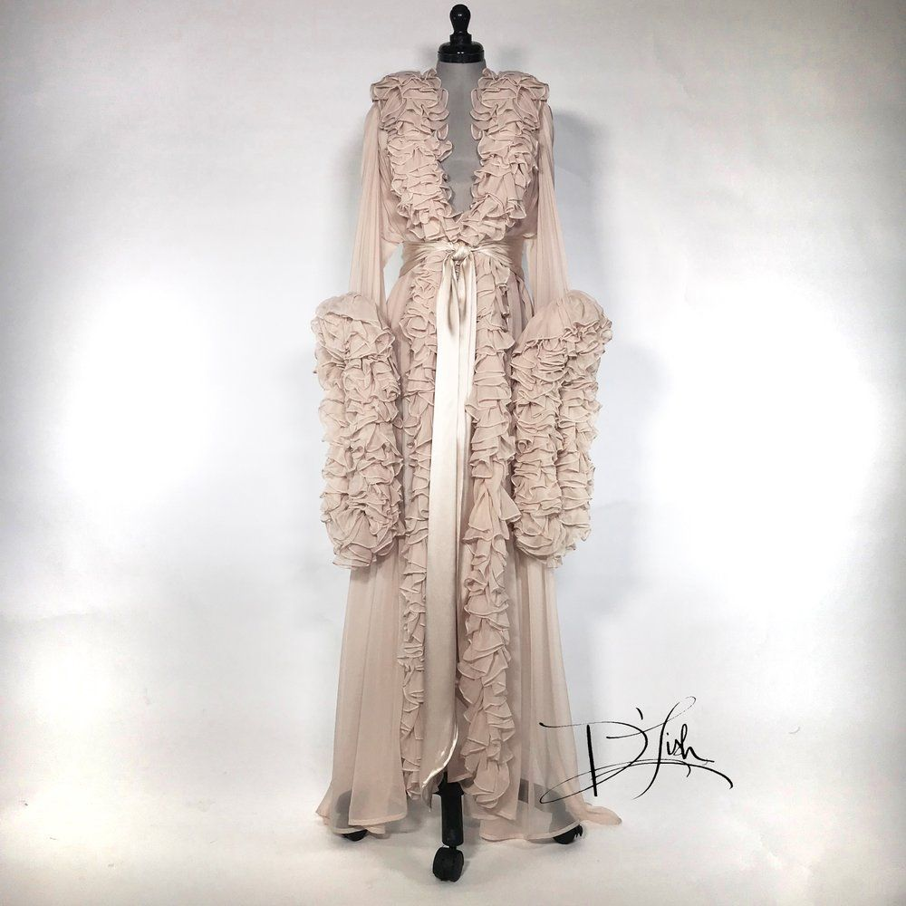 Silk Chiffon Dressing Gown | Dressings, Gowns and Silk